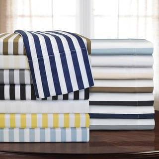 Superior 600 Thread Count Cabana Stripe Cotton Blend Pillowcases (Set of 2)