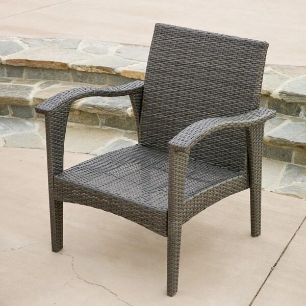 honolulu outdoor 4-piece cushioned wicker seating set