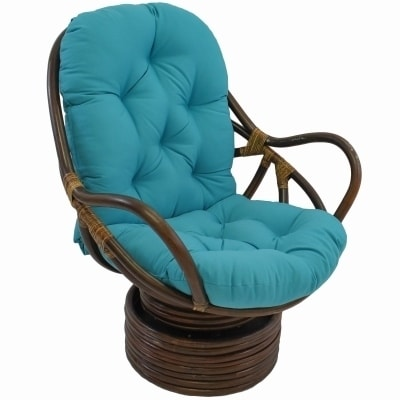 Blazing Needles 48-inch Solid Swivel Rocker Cushion