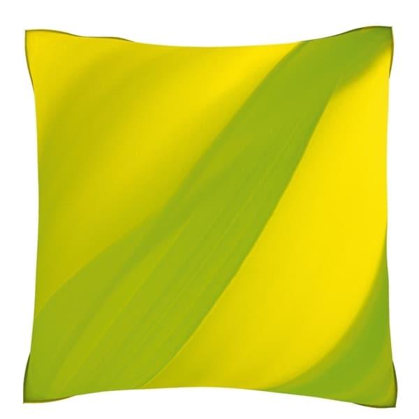 Green Grass 18-inch Velour Throw Pillow