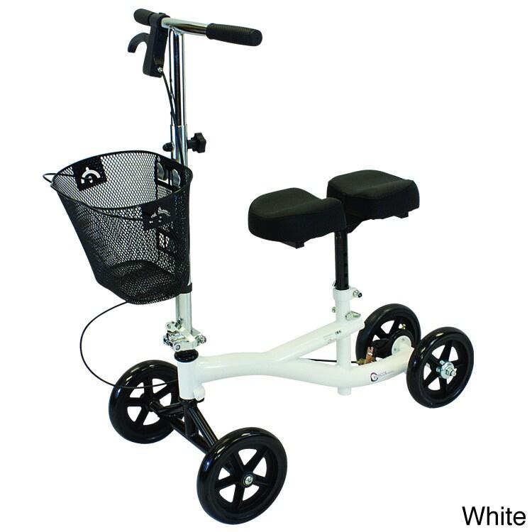 Roscoe Medical Deluxe Knee Scooter Walker (White)