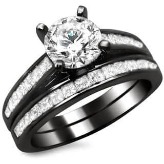 Noori 14k Black Gold 1 3/4ct Round Princess Cut Diamond Engagement Ring Set|https://ak1.ostkcdn.com/images/products/8774974/14k-Black-Gold-1-3-4ct-Round-Princess-Cut-Diamond-Engagement-Ring-Set-G-H-SI1-SI2-P16015175.jpg?impolicy=medium