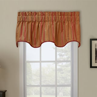 Ellis Curtain Berkeley Stripe Wave Window Valance