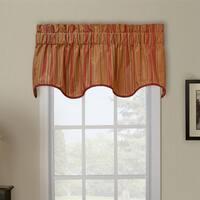 Ellis Curtain Berkeley Stripe Wave Window Valance