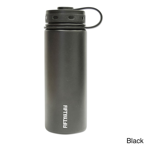 Lifeline 7504 Hot or Cold Silver Stainless Steel Wide Mouth Water Bottle 18 oz.