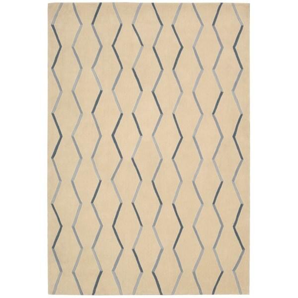 Nourison Contours Hand-tufted Ivory Rug (5 x 7'6) - 5' x 7'6