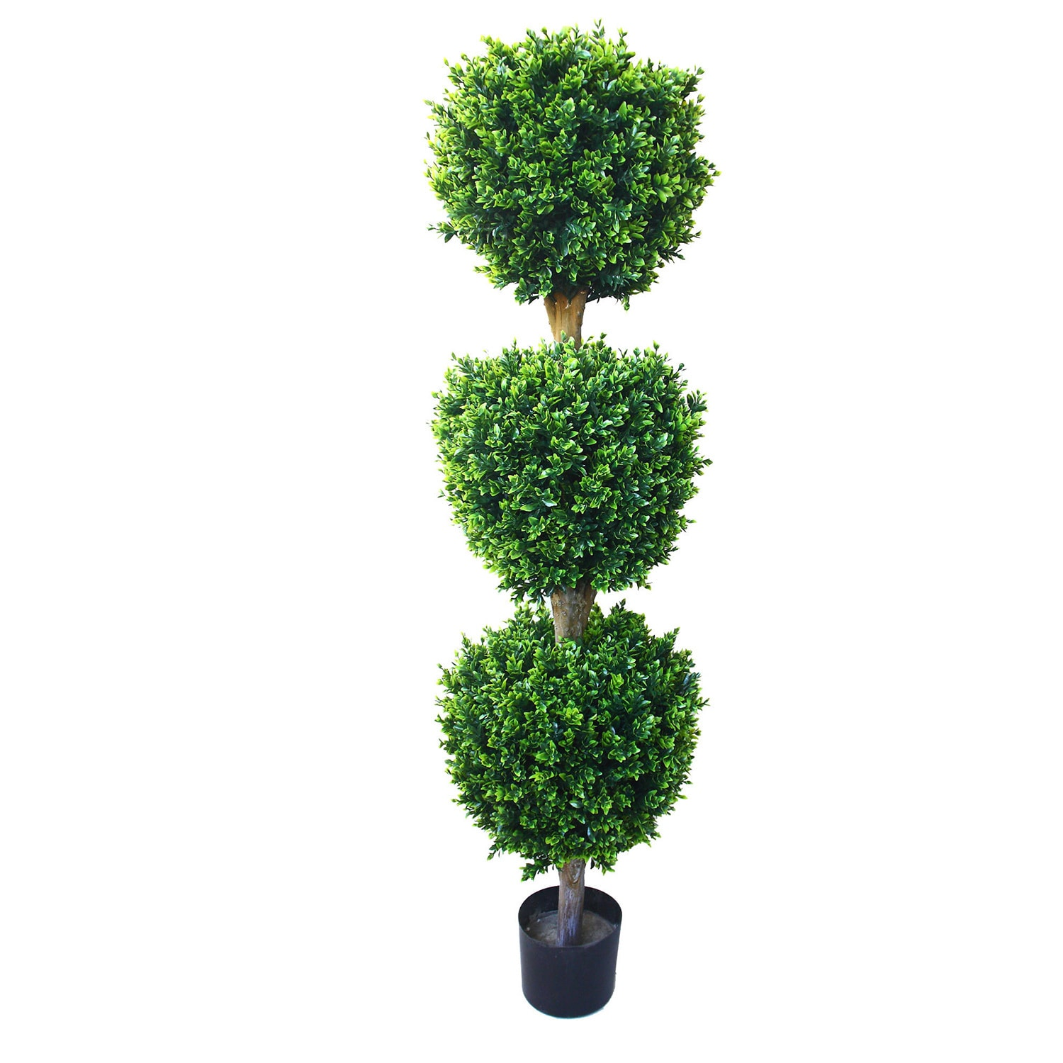Shop 5 Foot Artificial Hedyotis Tree Large Faux Potted Topiary