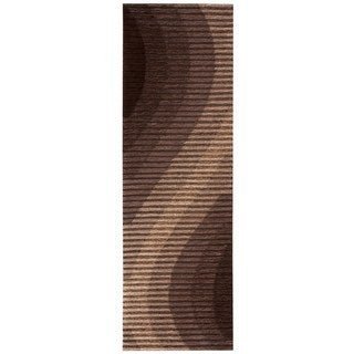 Joseph Abboud Mulholland Chocolate Area Rug by Nourison (2'3 x 8')