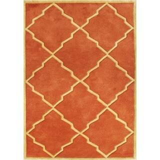Alliyah Handmade Rust New Zealand Blend Wool Rugg (9' x 12')|https://ak1.ostkcdn.com/images/products/8775105/P16015283.jpg?impolicy=medium