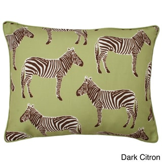 Zebra Reversible Down Filled Throw Pillow