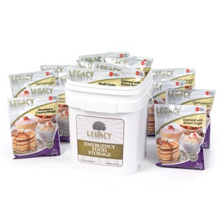 Legacy Food Storage Freeze Dried Breakfast Meals (60 Servings)