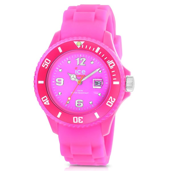 shop ice women 39 s neon pink silicone watch free shipping. Black Bedroom Furniture Sets. Home Design Ideas
