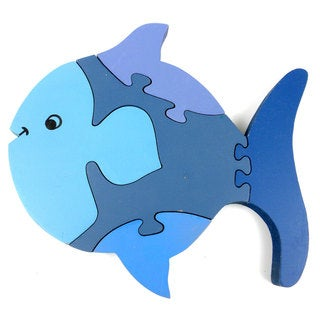 Handmade Wooden Fish Puzzle (India)