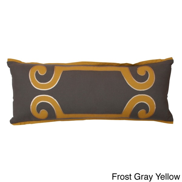 Harlow Scroll Embellished Throw Pillow