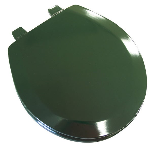 Deluxe Molded Wood Round Hunter Green Toilet Seat Free