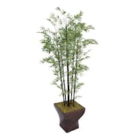 Laura Ashley 82-inch Black Bamboo Tree with Fiberstone Planter