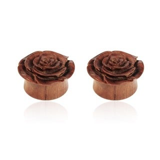 Supreme Jewelry Wooden Flower Plugs (Pair of 2)