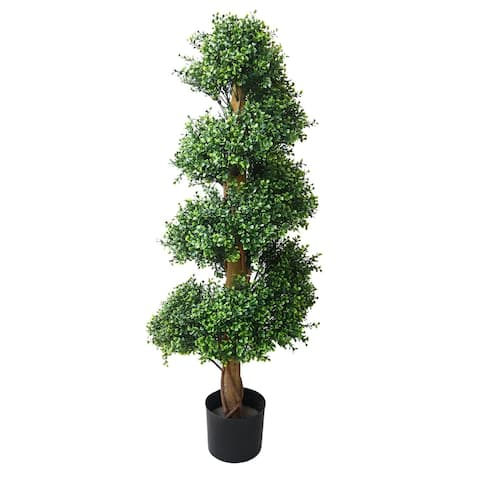 Romano 4-foot Indoor/ Outdoor Boxwood Spiral Tree