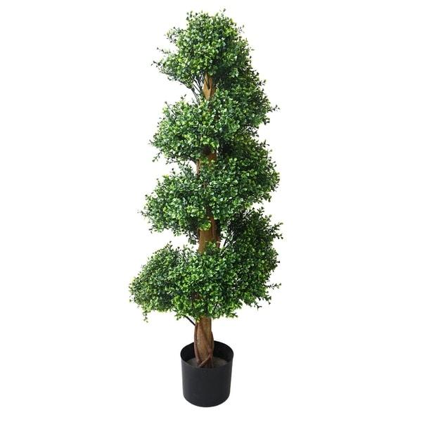 Romano 4-foot Indoor/ Outdoor Boxwood Spiral Tree - N/A