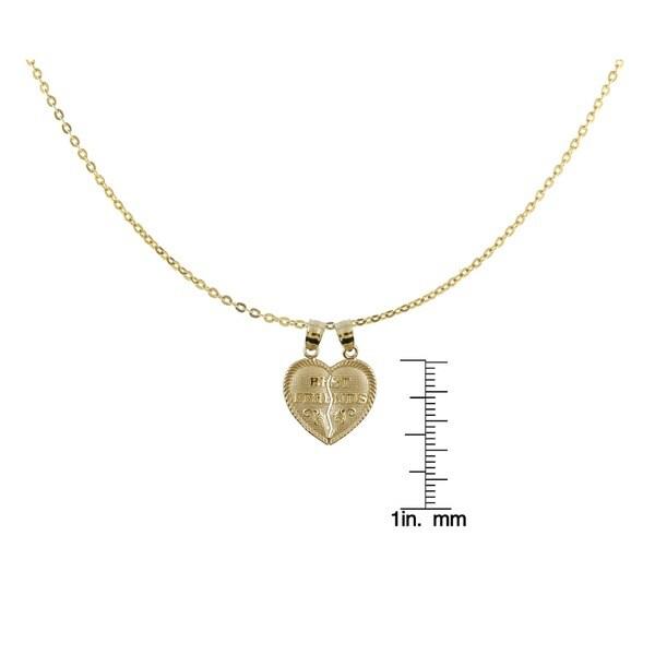 10k Heart Charm Length 18 Width 10