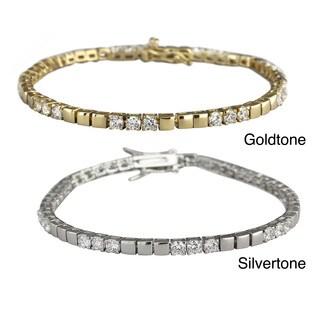 Nexte Jewelry Brass Cubic Zirconia Symetrical Tennis Bracelet