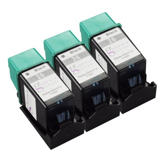 Sophia Global Remanufactured HP 26 Black Ink Cartridge Replacement (Set of 3)