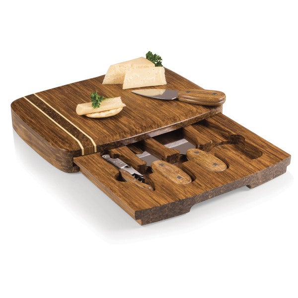 Verano Crushed Bamboo Cheese Board