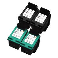 Sophia Global Remanufactured HP 92 and HP 93 Black/ Color Ink Cartridge Replacement (Set of 4)