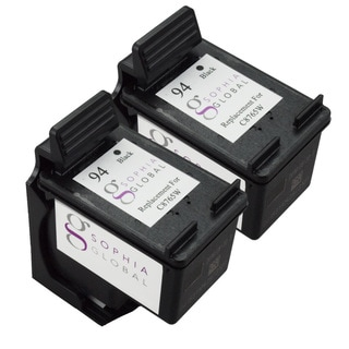 Sophia Global Remanufactured HP 94 Black Ink Cartridge Replacement (Set of 2)