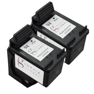 Sophia Global Remanufactured HP 94 Black Ink Cartridge Replacement (Set of 2)