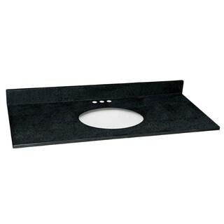 Design House 49x22-inch Single Bowl Black Pearl Granite Vanity Top