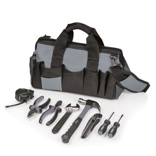 Grey/ Black Soft Tote 8-piece Tool Kit