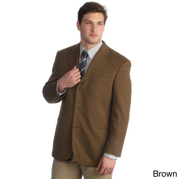 Hathaway Men's Cashmere Italian Made 3-button Sport Coat - Free ...