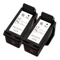 Sophia Global Remanufactured Black Ink Cartridge Replacement for HP 96 (Pack of 2)