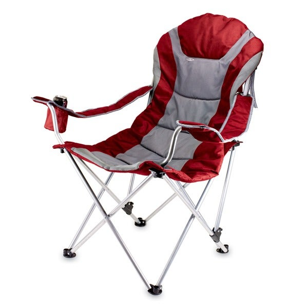 Dark Red Reclining Camp Chair. Opens flyout.