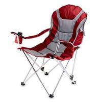Dark Red Reclining Camp Chair - DARK RED