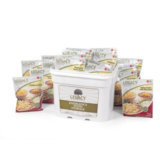 Legacy Premium Food Storage Breakfast, Lunch and Dinner Bucket (120 Servings)