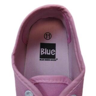 Blue Children's 'K-Riley' Pastel Canvas Sneakers