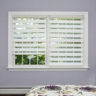 Aurora Home Premium Duo-roller White Wood-look Window Shade