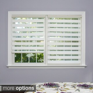Aurora Home Premium Duo-roller White Wood-look Window Shade