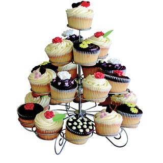 KitchenWorthy 4-tier Designer Metal Cupcake Stand