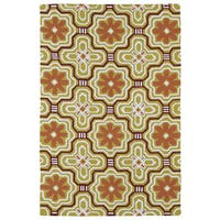 Handmade Luau Gold Tile Indoor/ Outdoor Rug - 8'6 x 11'6
