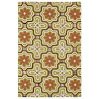 Luau Gold Tile Indoor/ Outdoor Area Rug - 5' x 7'6