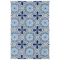 Luau Ivory Tile Indoor/ Outdoor Area Rug - 7'6 x 9'