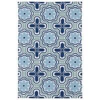 Luau Ivory Tile Indoor/ Outdoor Area Rug - 8'6 x 11'6