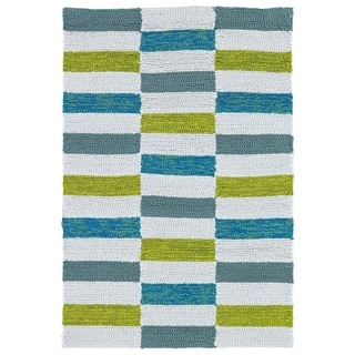 Indoor/ Outdoor Luau Ivory Stripes Rug (2' x 3')