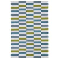 Indoor/ Outdoor Luau Ivory Stripes Rug - 5' x 7'6