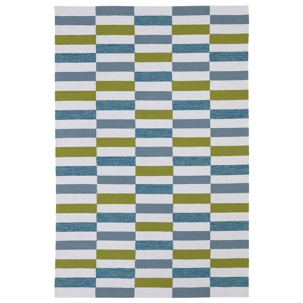 Indoor/ Outdoor Luau Ivory Stripes Rug (3' x 5') - 3' x 5'