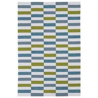 Indoor/ Outdoor Luau Ivory Stripes Rug - 8'6 x 11'6