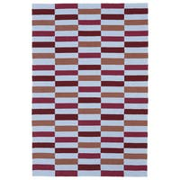 Indoor/ Outdoor Luau Multicolored Stripes Rug - 5' x 7'6